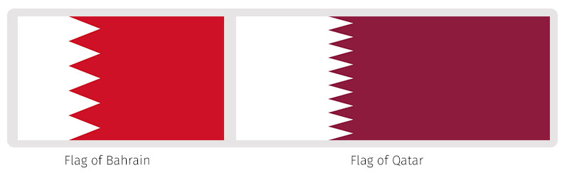 Flags Of The World The Dialogue - Bahrain flags