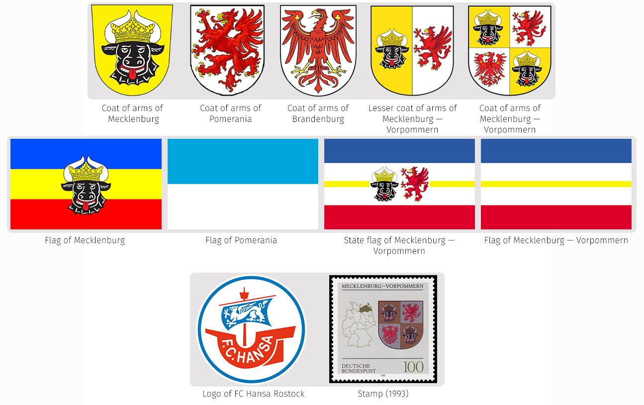 Heraldry of german states the dialogue symbols of mecklenburg western pomerania buycottarizona Image collections