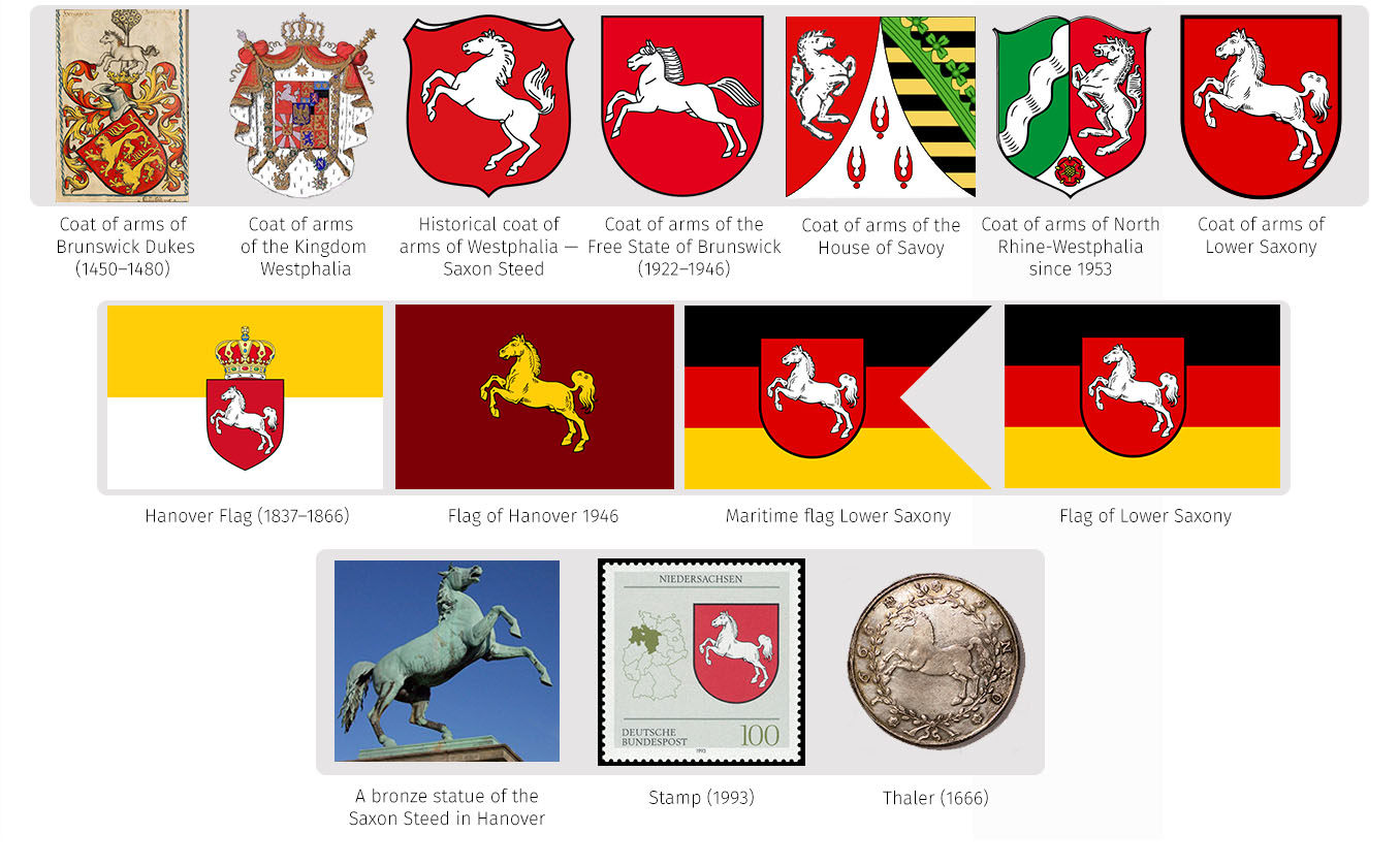 Heraldry of german states the dialogue symbols of lower saxony buycottarizona Image collections