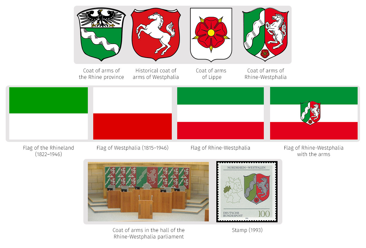 Heraldry of german states the dialogue symbols of the north rhine westphalia buycottarizona Image collections