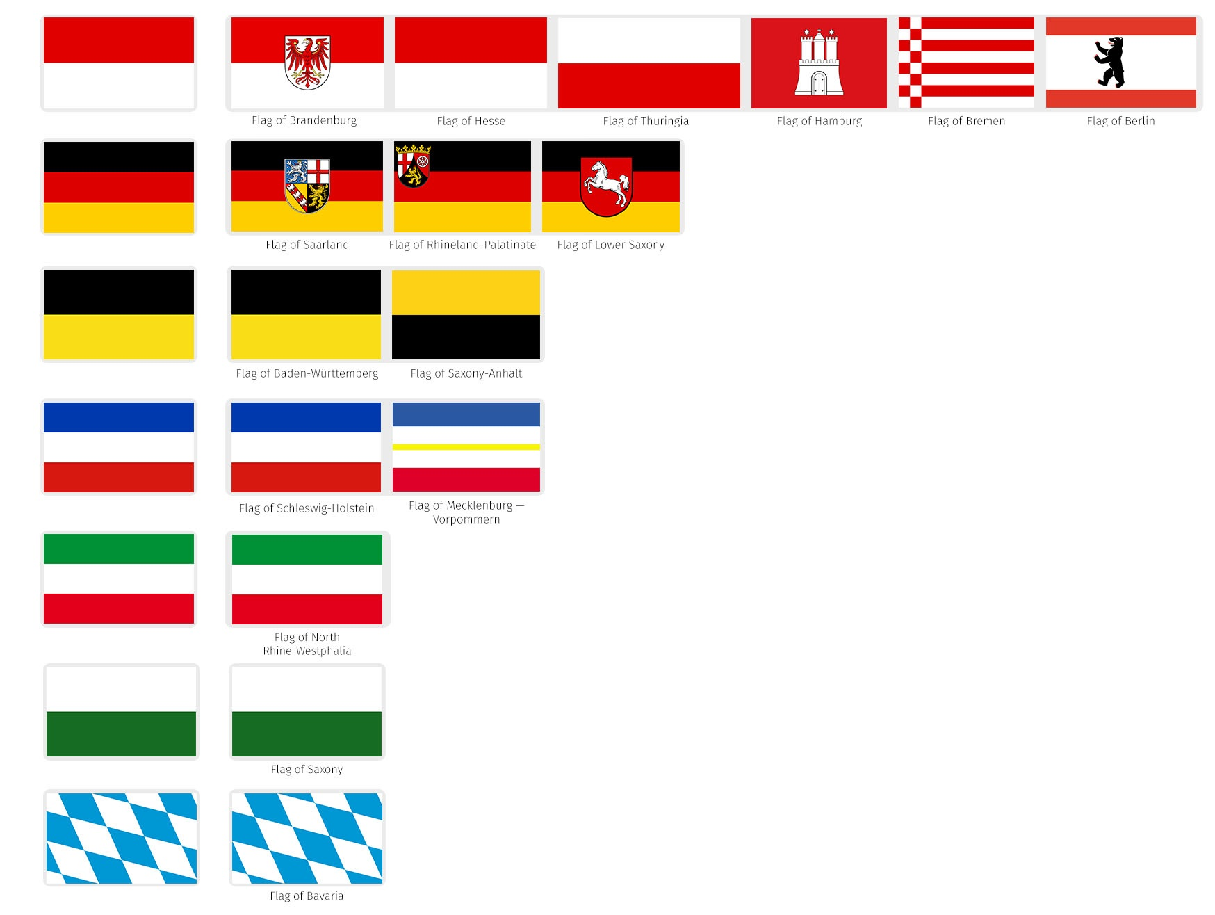 Heraldry of german states the dialogue flags of germany and their colors buycottarizona Image collections