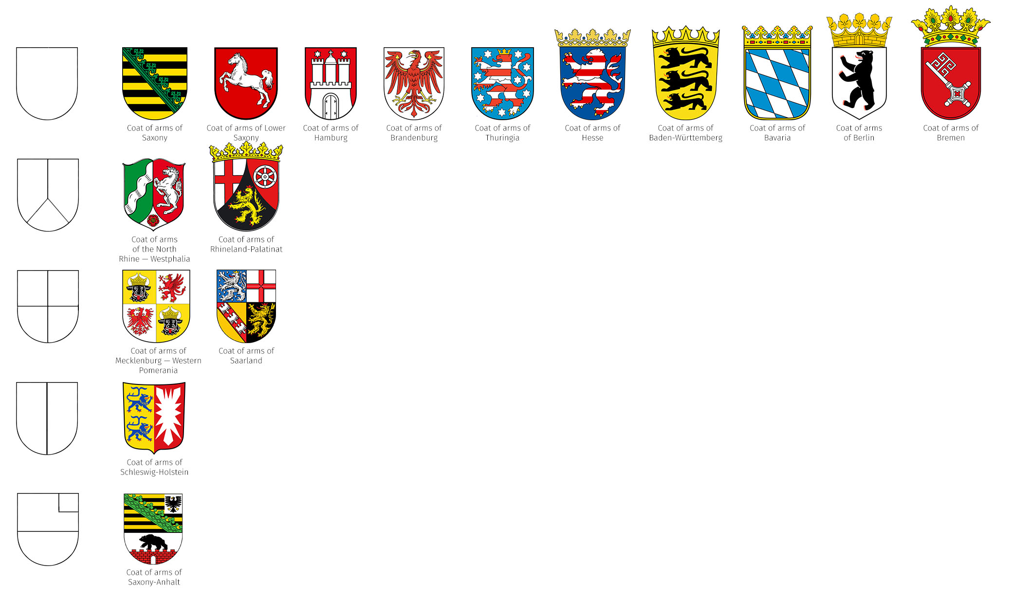 Heraldry of german states the dialogue coat of arms of germany based on their structure buycottarizona Image collections